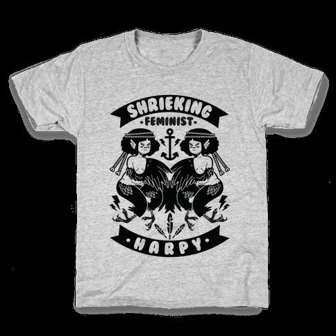 Shrieking Feminist Harpy Kids T-Shirt