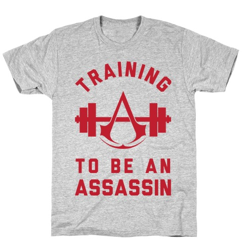 Training To Be An Assassin Mens T-Shirt