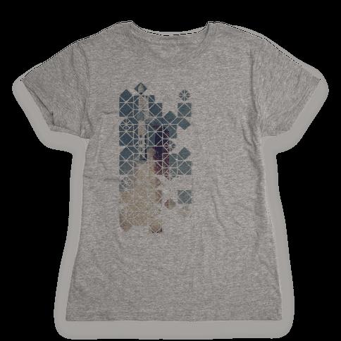 Hexagon Space Ship Womens T-Shirt