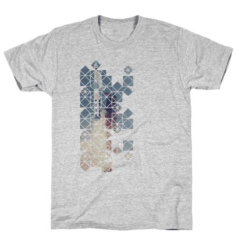Hexagon Space Ship Mens T-Shirt