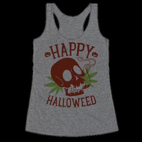 Happy Hallo-Weed Racerback Tank Top