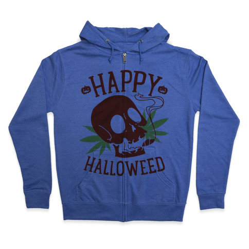 Happy Hallo-Weed Zip Hoodie