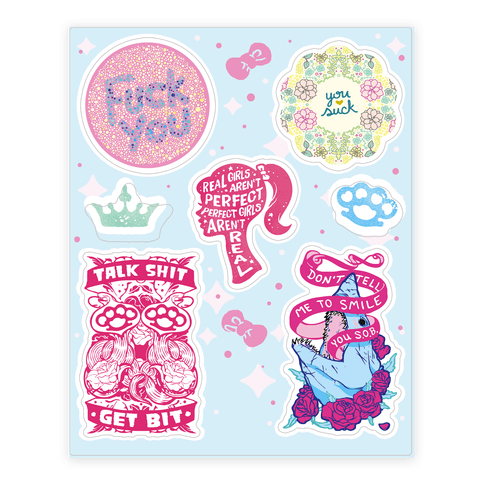Sassy  Sticker/Decal Sheet