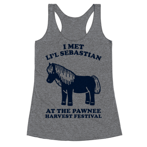 I Met Li'l Sebastian at the Pawnee Harvest Festival Racerback Tank Top