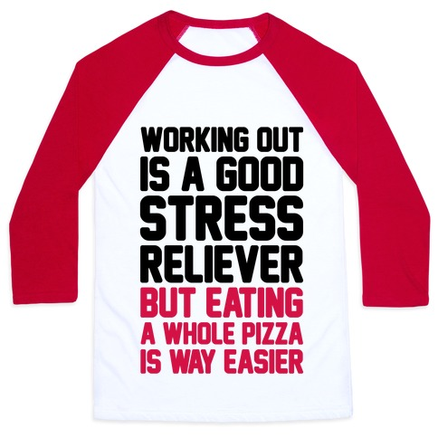 Pizza Workout Baseball Tee