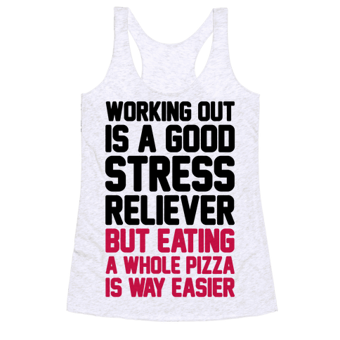 Pizza Workout Racerback Tank Top