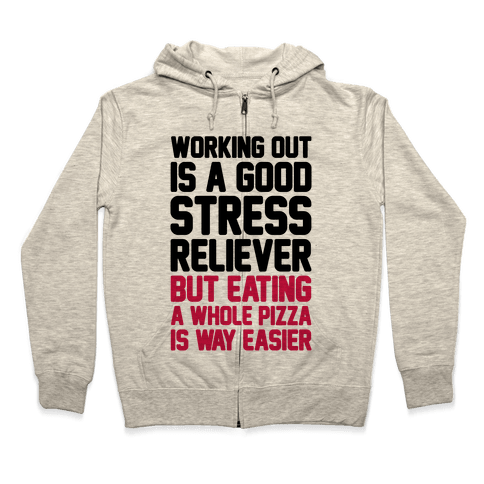 Pizza Workout Zip Hoodie