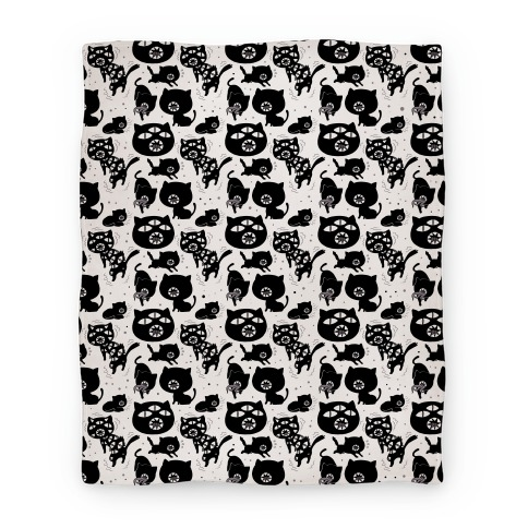 Kuro Cat Pattern Blanket