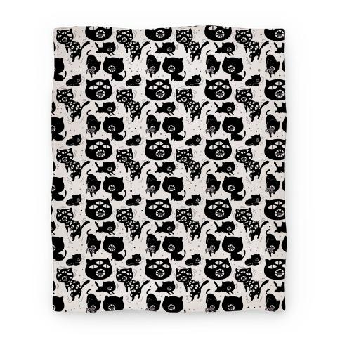 Kuro Cat Pattern Blanket