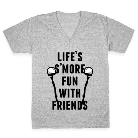 Life's S'more Fun V-Neck Tee Shirt