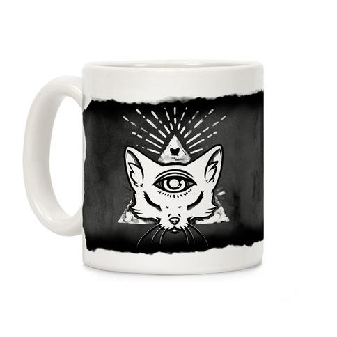 Purrlluminati Coffee Mug