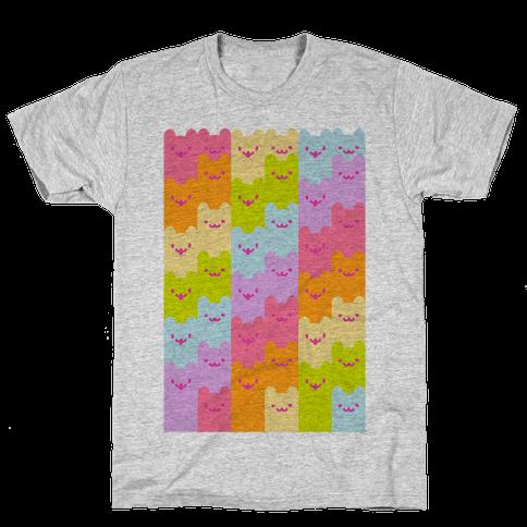Pastel Rainbow Cats Mens T-Shirt
