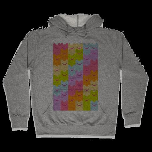 Pastel Rainbow Cats Hooded Sweatshirt
