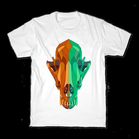 Geometric Coyote Skull Kids T-Shirt