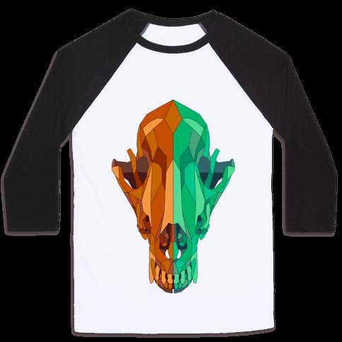 Geometric Coyote Skull Baseball Tee