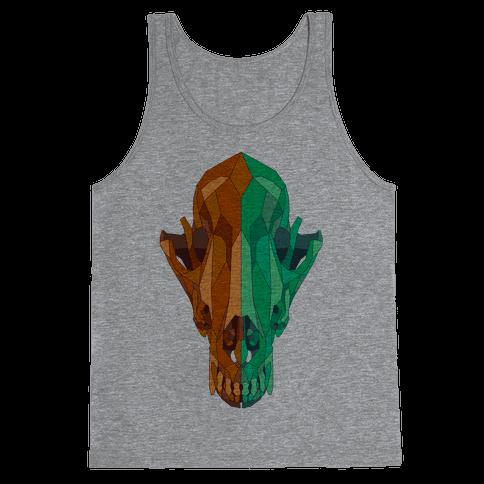 Geometric Coyote Skull Tank Top