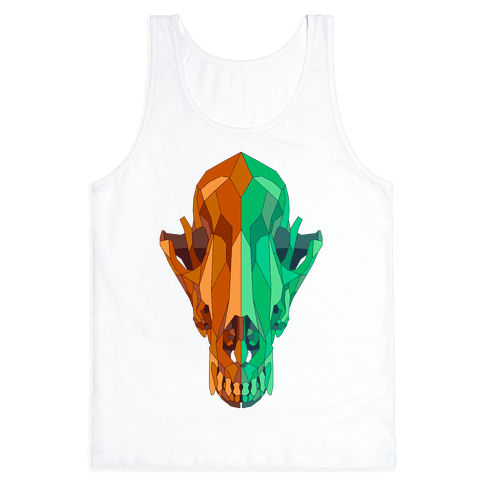 Geometric Coyote Skull Tank Top