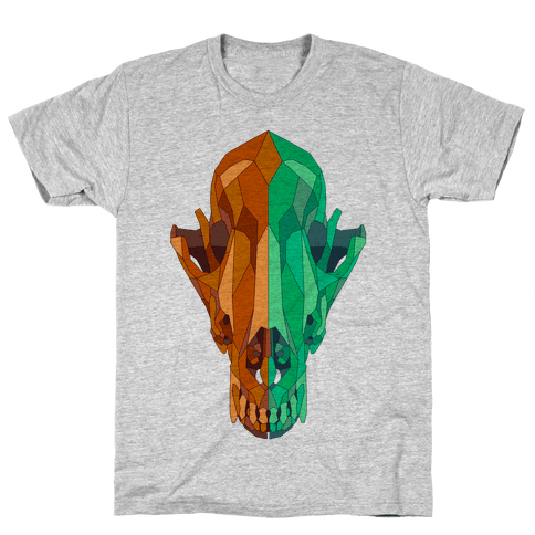 Geometric Coyote Skull Mens T-Shirt