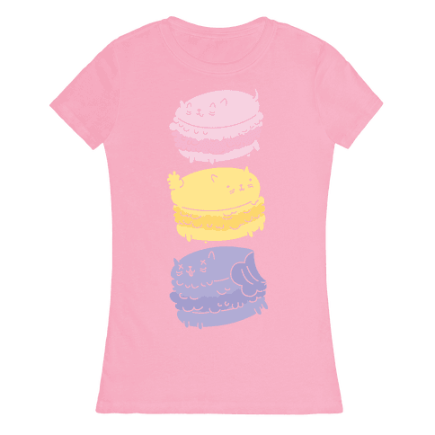 Cat Macarons Womens T-Shirt