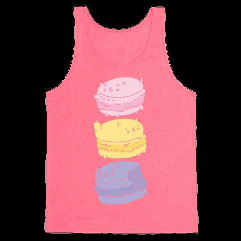 Cat Macarons Tank Top