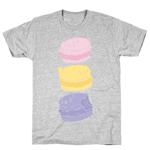 Cat Macarons Mens T-Shirt