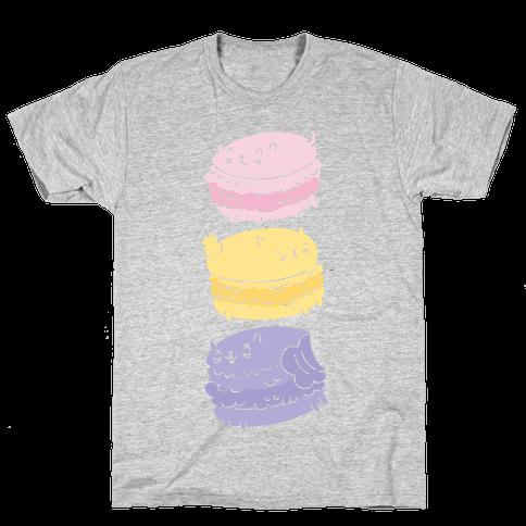 Cat Macarons Mens T-Shirt