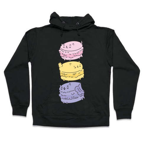 Cat Macarons Hooded Sweatshirt