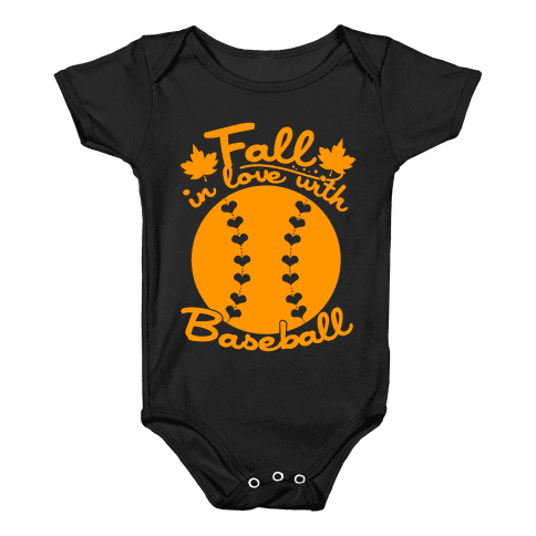 Fall In Love With Baseball Baby Onesy