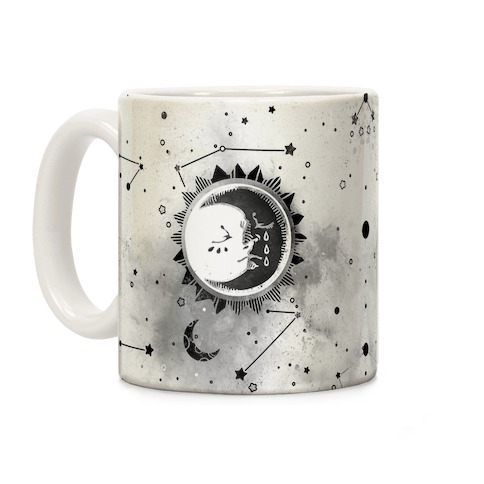 Sun and Moon Faces Coffee Mug