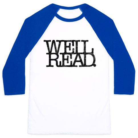 Well Read Baseball Tee