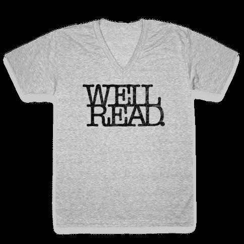Well Read V-Neck Tee Shirt