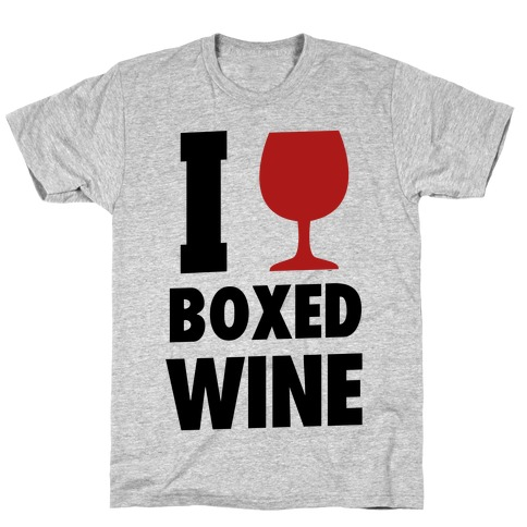 I Love Boxed Wine Mens T-Shirt