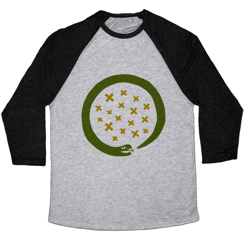 The Snake That Ate Itself Baseball Tee