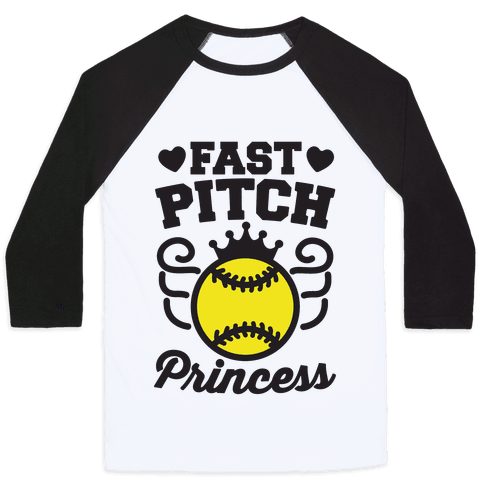 Fast Pitch Princess Baseball Tee
