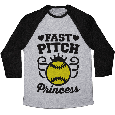 Fast Pitch Princess Baseball Tee