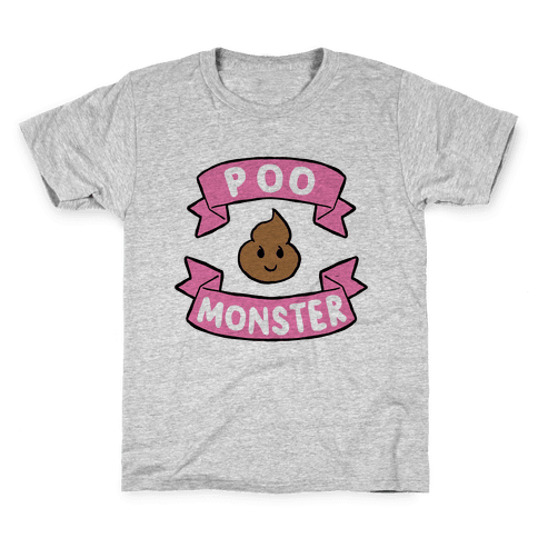Poo Monster Kids T-Shirt