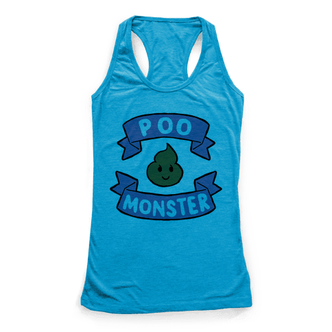 Poo Monster Racerback Tank Top