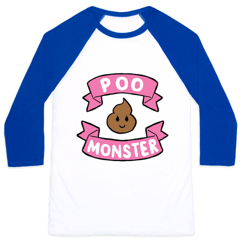 Poo Monster Baseball Tee