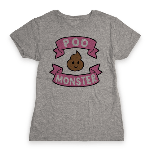Poo Monster Womens T-Shirt