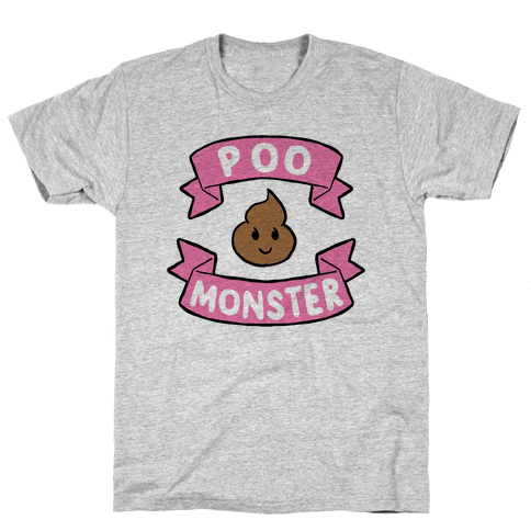 Poo Monster Mens T-Shirt