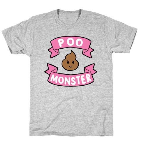 Poo Monster Mens/Unisex T-Shirt