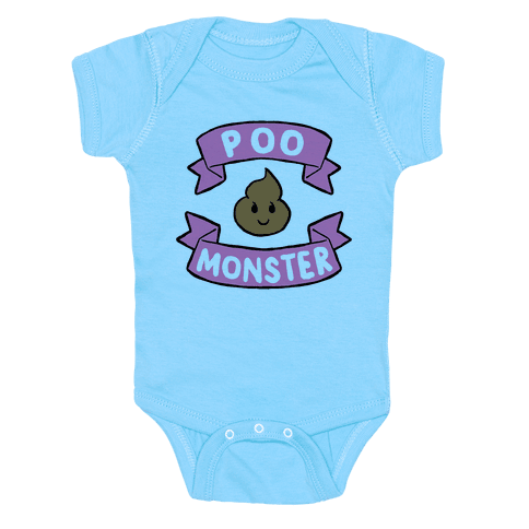 Poo Monster Baby Onesy