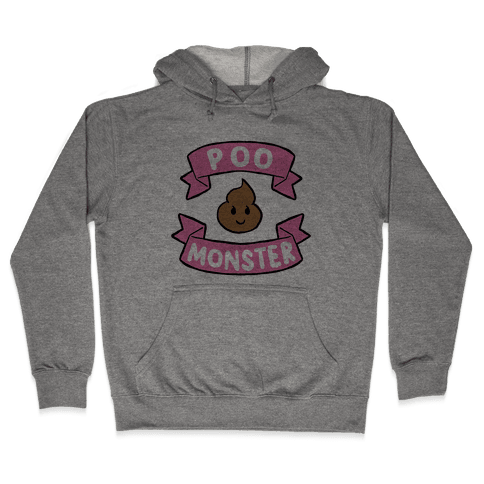 Poo Monster Hooded Sweatshirt