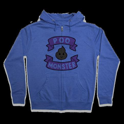 Poo Monster Zip Hoodie