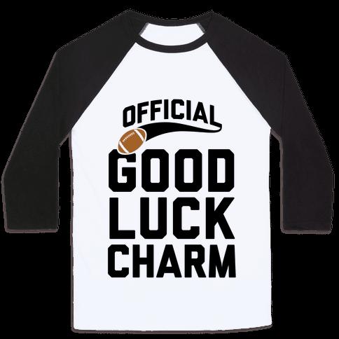Football Good Luck Charm Baseball Tee