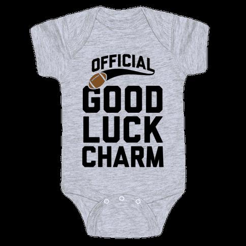 Football Good Luck Charm Baby Onesy