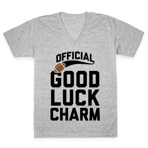 Football Good Luck Charm V-Neck Tee Shirt