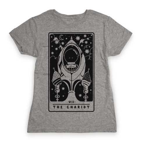 The Chariot Space Rocket Tarot Card Womens T-Shirt