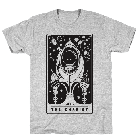 The Chariot Space Rocket Tarot Card Mens T-Shirt