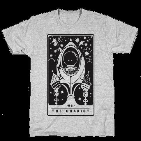 The Chariot Space Rocket Tarot Card Mens T-Shirt